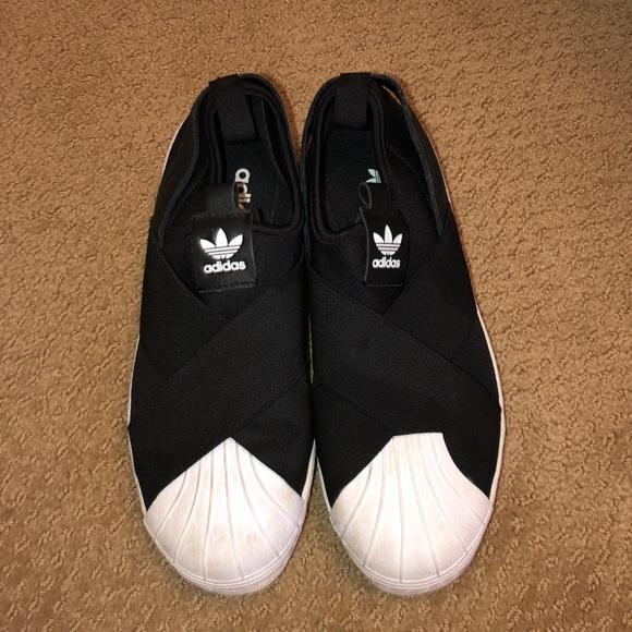 Black And White No Lace Adidas | Poshmark